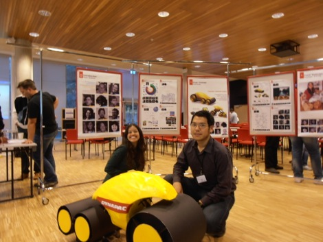 Carolina and Nanond with the autonomous roller prototype